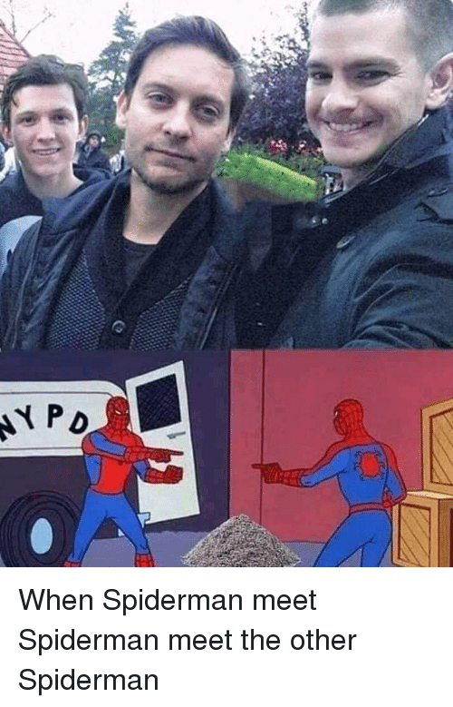 Spiderman, Other, and When: NYp When Spiderman meet Spiderman meet the other Spiderman