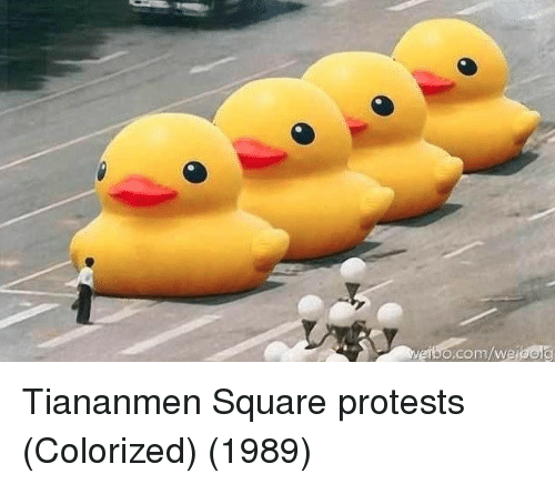 Protests: o.com/weibolc Tiananmen Square protests (Colorized) (1989)