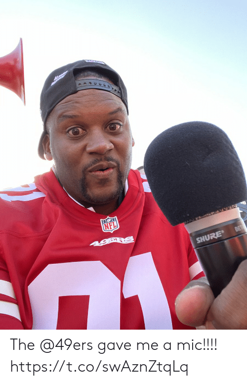 mic: OB  NFL  SANF PARVN  BET  SHURE The @49ers gave me a mic!!!! https://t.co/swAznZtqLq