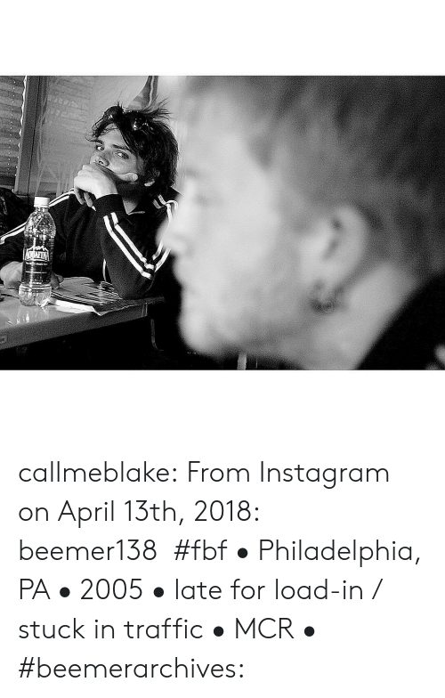 April: OBAFIN callmeblake: From Instagram on April 13th, 2018: beemer138  #fbf • Philadelphia, PA • 2005 • late for load-in / stuck in traffic • MCR • #beemerarchives: