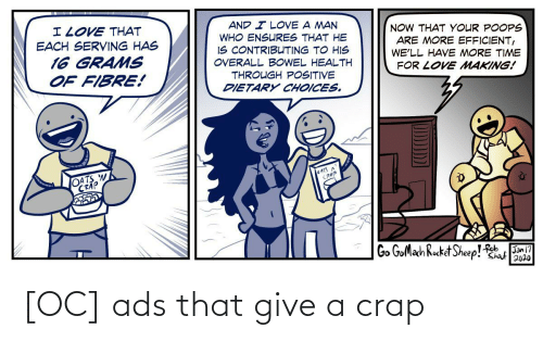 crap: [OC] ads that give a crap