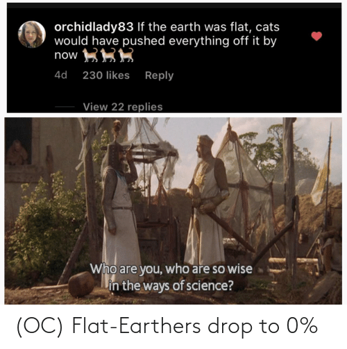 Flat: (OC) Flat-Earthers drop to 0%