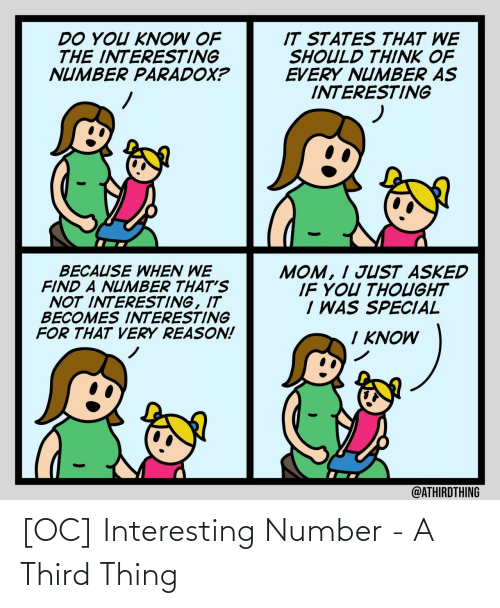 Third: [OC] Interesting Number - A Third Thing