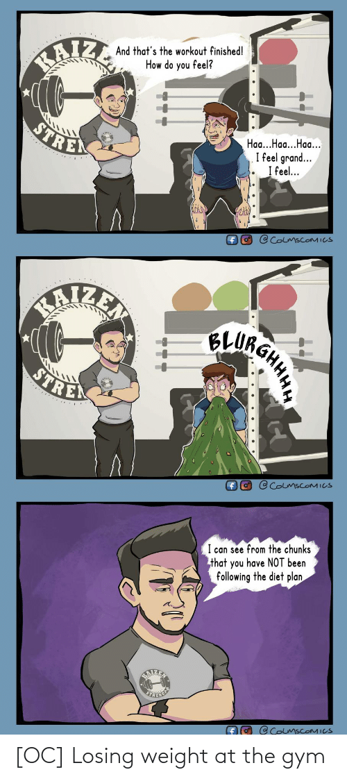 the gym: [OC] Losing weight at the gym