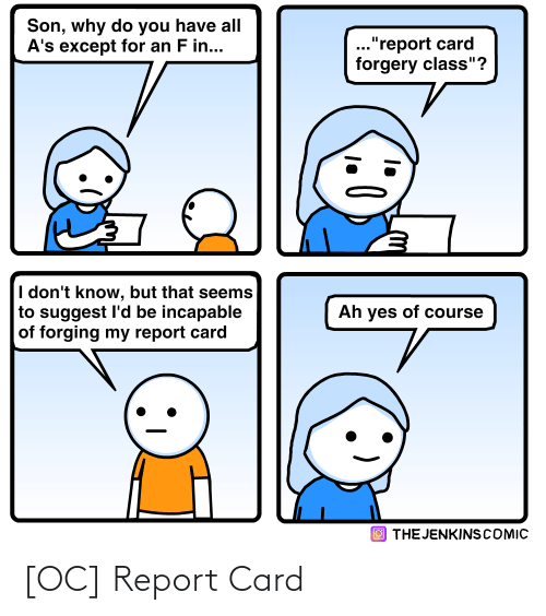 Report: [OC] Report Card