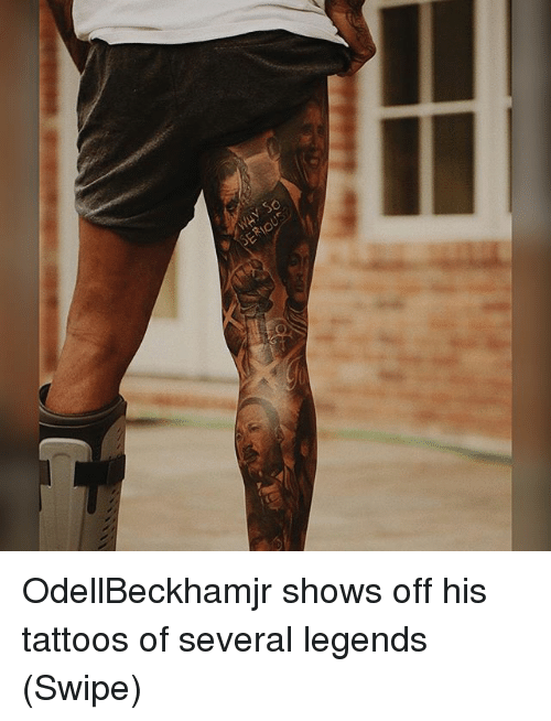 Memes, Tattoos, and 🤖: OdellBeckhamjr shows off his tattoos of several legends (Swipe)