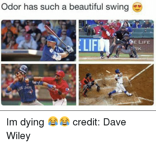 wiley: Odor has such a beautiful swing  MAE LIFE Im dying 😂😂 credit: Dave Wiley