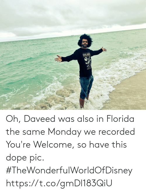 pic: Oh, Daveed was also in Florida the same Monday we recorded You're Welcome, so have this dope pic. #TheWonderfulWorldOfDisney https://t.co/gmDl183QiU
