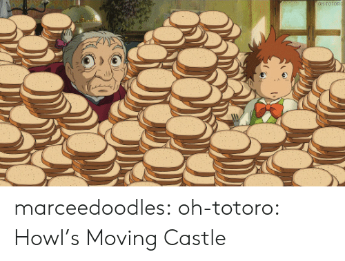Tumblr, Blog, and Castle: OH-TOTORO marceedoodles: oh-totoro: ハウルの動く城 · Howl's Moving Castle