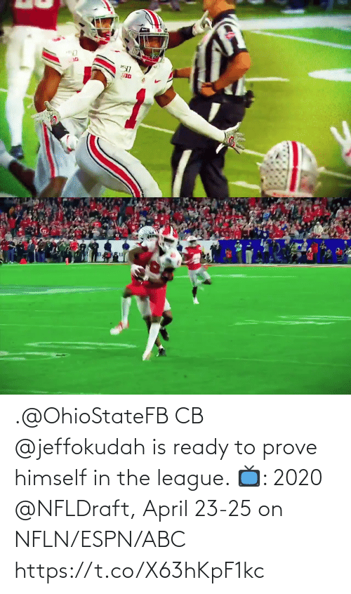 The League: .@OhioStateFB CB @jeffokudah is ready to prove himself in the league.   📺: 2020 @NFLDraft, April 23-25 on NFLN/ESPN/ABC https://t.co/X63hKpF1kc