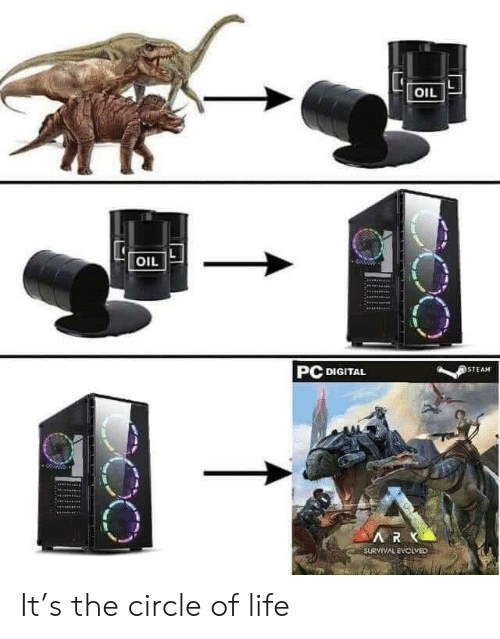 Life, Steam, and Survival: OIL  OIL  PC DIGITAL  STEAM  RK  SURVIVAL EVCLVED It's the circle of life