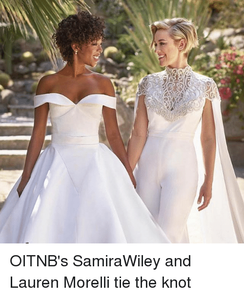 the knot: OITNB's SamiraWiley and Lauren Morelli tie the knot