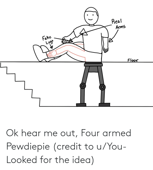 You Looked: Ok hear me out, Four armed Pewdiepie (credit to u/You-Looked for the idea)