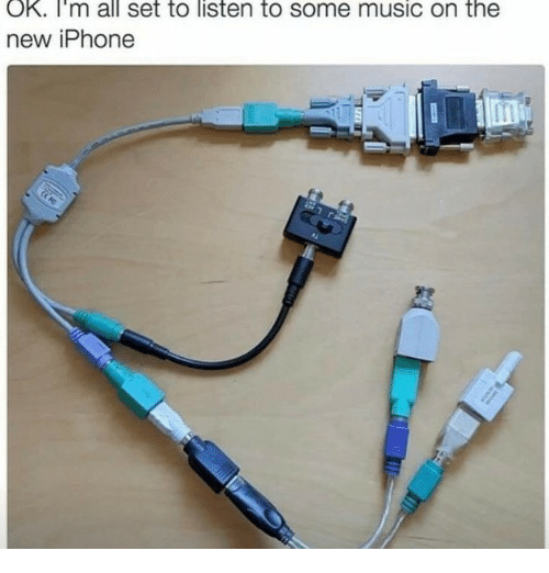 New Iphone: OK. I'm all set to listen to some music on the  new iPhone