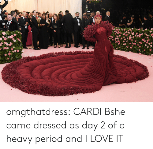 Love, Period, and Target: omgthatdress:  CARDI Bshe came dressed as day 2 of a heavy period and I LOVE IT