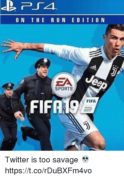 Fifa, Savage, and Soccer: ON THE R UN EDITIO N  EA  SPORTS  FIFA19  FIFA Twitter is too savage 💀 https://t.co/rDuBXFm4vo
