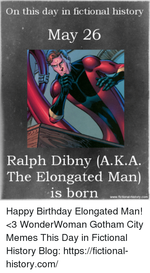 On This Day In Fictional History May 26 Ralph Dibny Aka The