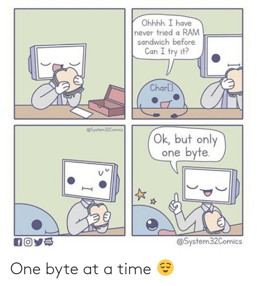 at-a-time: One byte at a time 😌