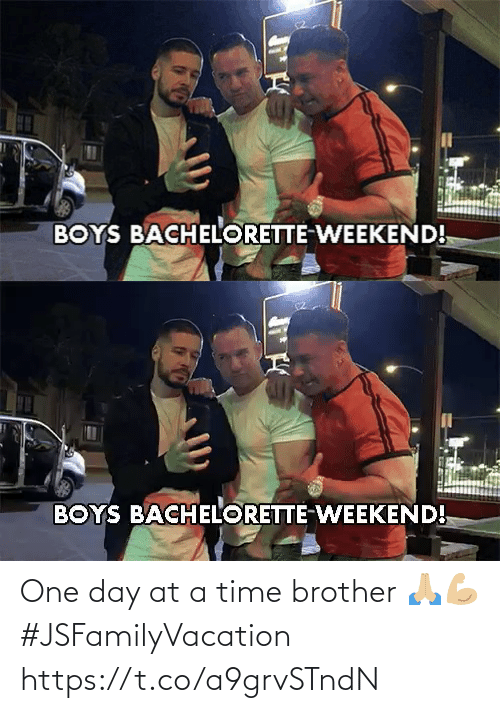 at-a-time: One day at a time brother 🙏🏼💪🏼 #JSFamilyVacation https://t.co/a9grvSTndN