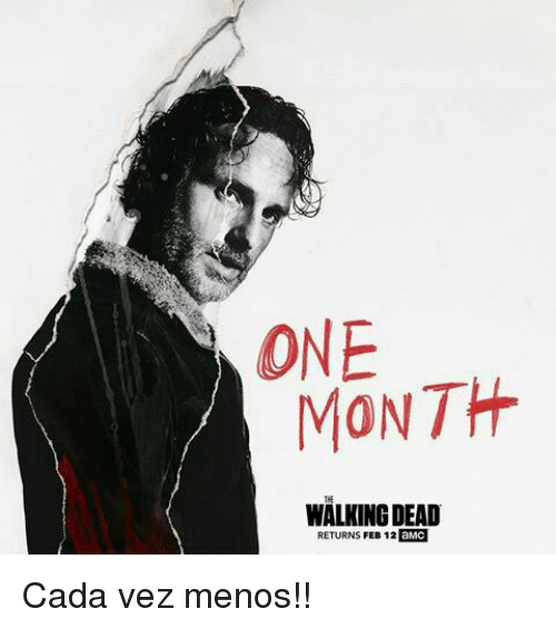 Walking Dead Returns: ONE  MONTH  WALKING DEAD  RETURNS FEB 12  aMC Cada vez menos!!