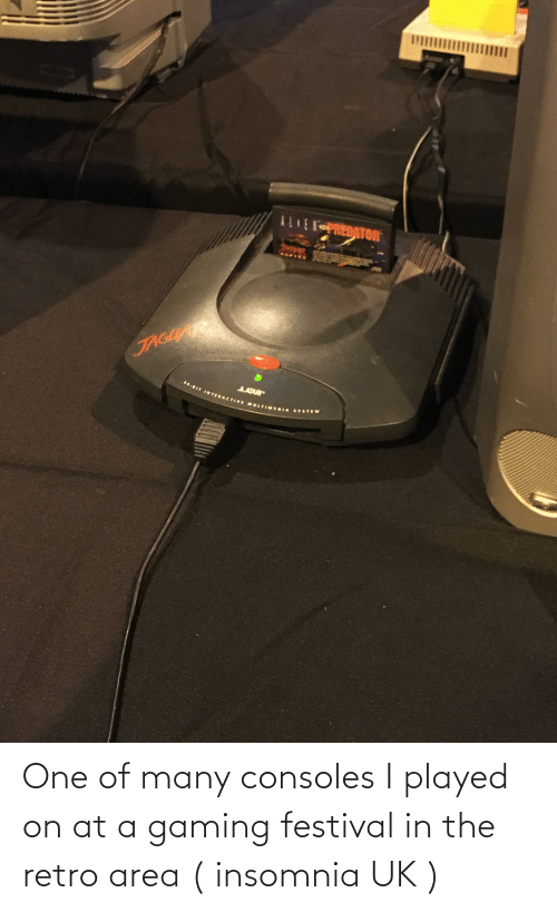 Insomnia: One of many consoles I played on at a gaming festival in the retro area ( insomnia UK )