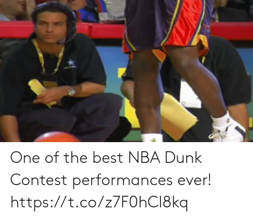 Dunk, Memes, and Nba: One of the best NBA Dunk Contest performances ever!   https://t.co/z7F0hCl8kq