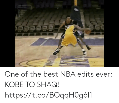 edits: One of the best NBA edits ever: KOBE TO SHAQ!   https://t.co/BOqqH0g6I1