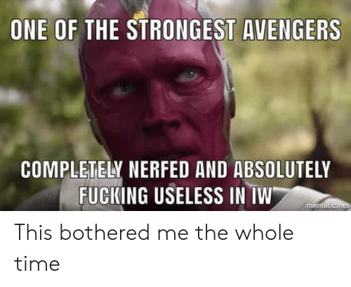 Nerfed: ONE OF THE STRONGEST AVENGERS  COMPLETELY NERFED AND ABSOLUTELY  FUCKING USELESS IN TW This bothered me the whole time