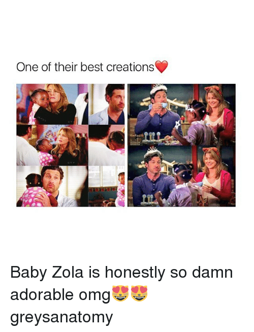 Zola: One of their best creations Baby Zola is honestly so damn adorable omg😻😻 greysanatomy