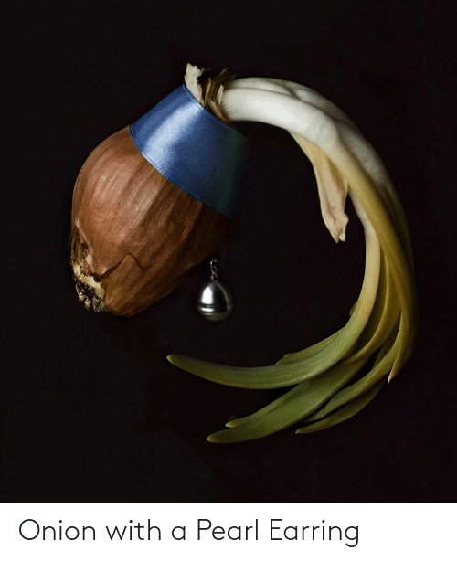 earring: Onion with a Pearl Earring