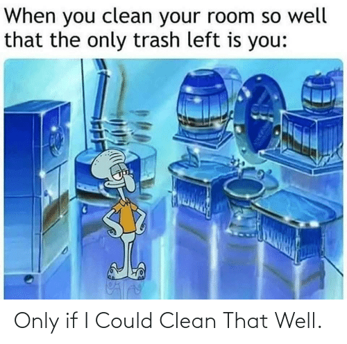 clean: Only if I Could Clean That Well.