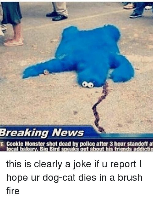Oo Breaking News E Cookie Monster Shot Dead By Police After