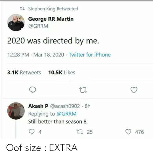 extra: Oof size : EXTRA