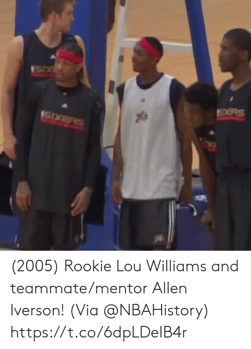 Allen Iverson: OORS (2005) Rookie Lou Williams and teammate/mentor Allen Iverson!   (Via @NBAHistory)   https://t.co/6dpLDeIB4r