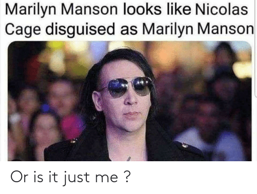 Or Is It: Or is it just me ?