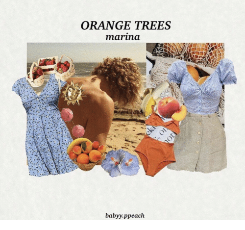 Orange, Trees, and Marina: ORANGE TREES  marina  babyy.ppeach