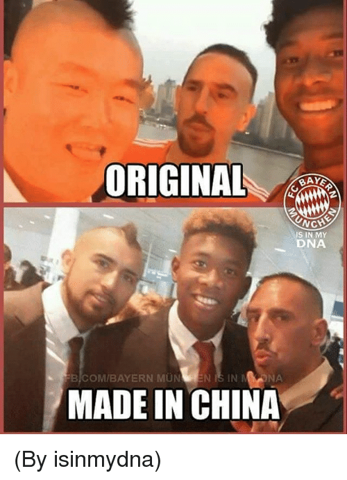 Onas: ORIGINAL  UNC  NCH  IS IN MY  DNA  BICOM/BAYERN MUN EN IS IN M ONA  MADE IN CHINA (By isinmydna)