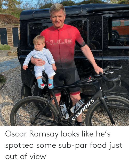 par: Oscar Ramsay looks like he's spotted some sub-par food just out of view