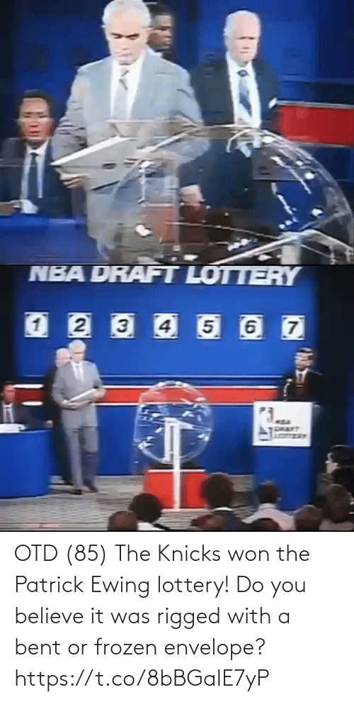 patrick: OTD (85) The Knicks won the Patrick Ewing lottery! Do you believe it was rigged with a bent or frozen envelope?  https://t.co/8bBGaIE7yP