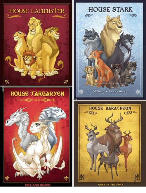house targaryen: OUSE LAnnISTER  HOUSE TARGARYEN  FIRE AND BLOOD  HOUSE STARK  inter is coming  House BARATHEON  OURS IS THE FURY