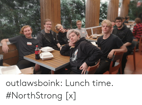 Tumblr, Twitter, and Blog: outlawsboink:    Lunch time.  #NorthStrong  [x]