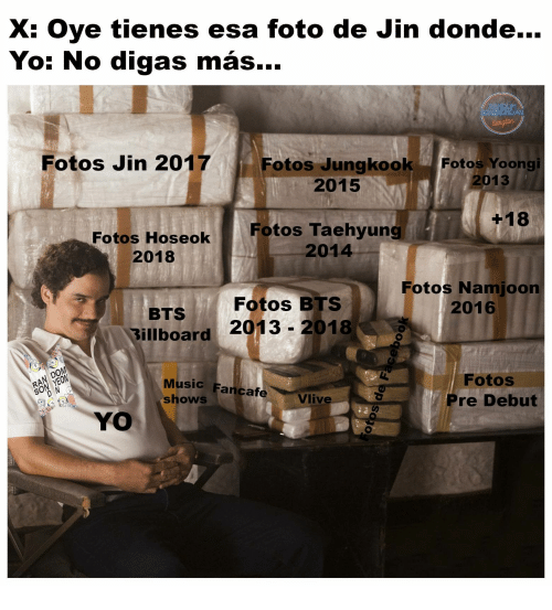 Billboard, Music, and Yo: oye tienes esa foto de Jin donde  Yo: No digas más...  Fotos Jin 2017  Fotos JungkookFotos Yoong  2015  2013  +18  Fotos Hoseok Fotos Taehyung  2014  2018  Fotos Namjoon  2016  Fotos BTS  BTS  Billboard 2013- 2018  0  Music Fancafe  shows  Fotos  Pre Debut  S0  Vlive  YO