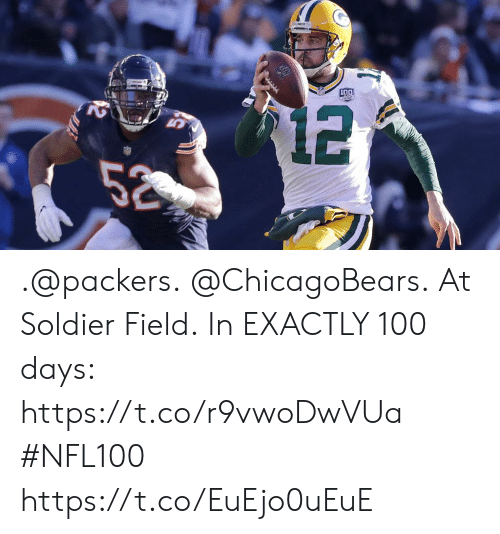 chicagobears: .@packers. @ChicagoBears. At Soldier Field.  In EXACTLY 100 days: https://t.co/r9vwoDwVUa #NFL100 https://t.co/EuEjo0uEuE