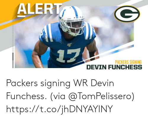 via: Packers signing WR Devin Funchess. (via @TomPelissero) https://t.co/jhDNYAYINY