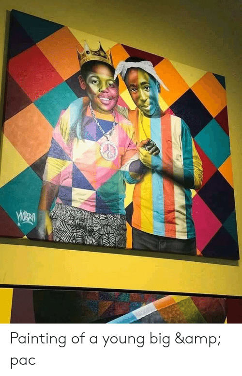 Big, Amp, and Pac: Painting of a young big & pac