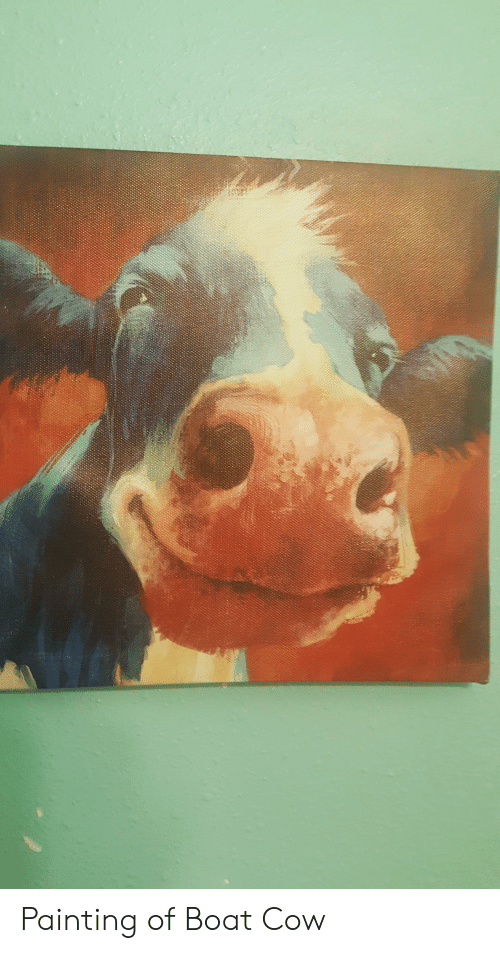 Boat, Cow, and Painting: Painting of Boat Cow