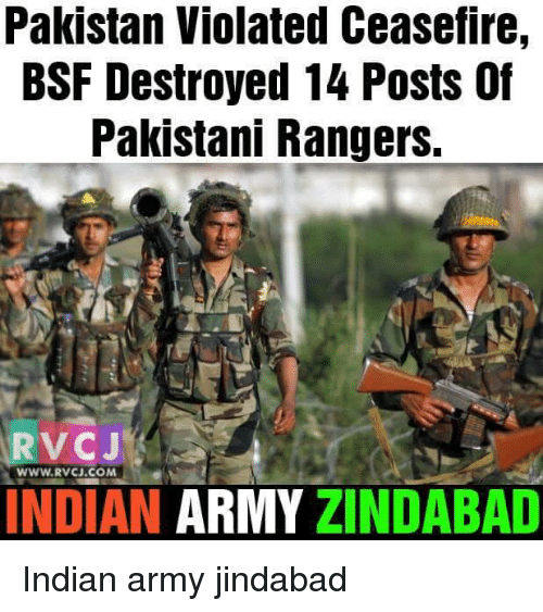 Pakistan Violated Ceasefire Bsf Destroyed 14 Posts Pakistani