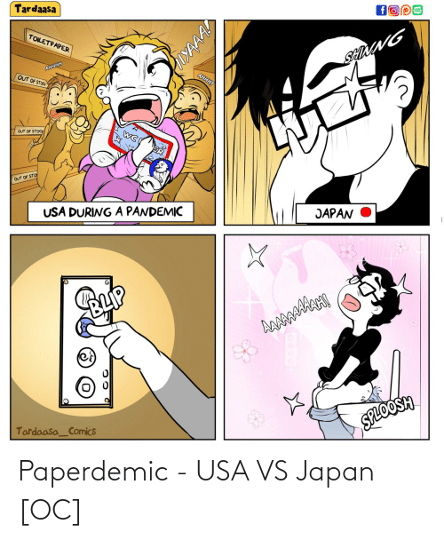 usa: Paperdemic - USA VS Japan [OC]