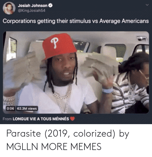 Colorized: Parasite (2019, colorized) by MGLLN MORE MEMES