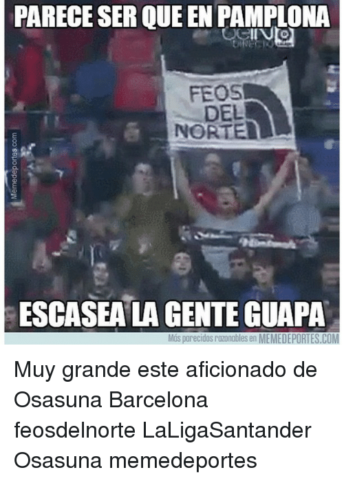 Barcelona, Memes, and Queen: PARECESER QUEEN PAMPLONA  FEOS  DEL  NORTE  ESCASEALA GENTE GUAPA  OS parecidos razonobles en MEMEDEPORTES.COM Muy grande este aficionado de Osasuna Barcelona feosdelnorte LaLigaSantander Osasuna memedeportes